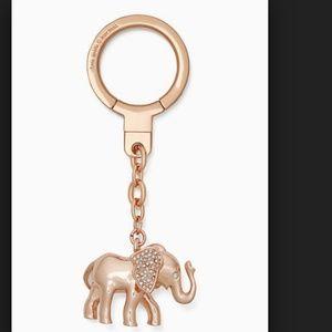 kate spade jeweled elephant keychain with dustbag
